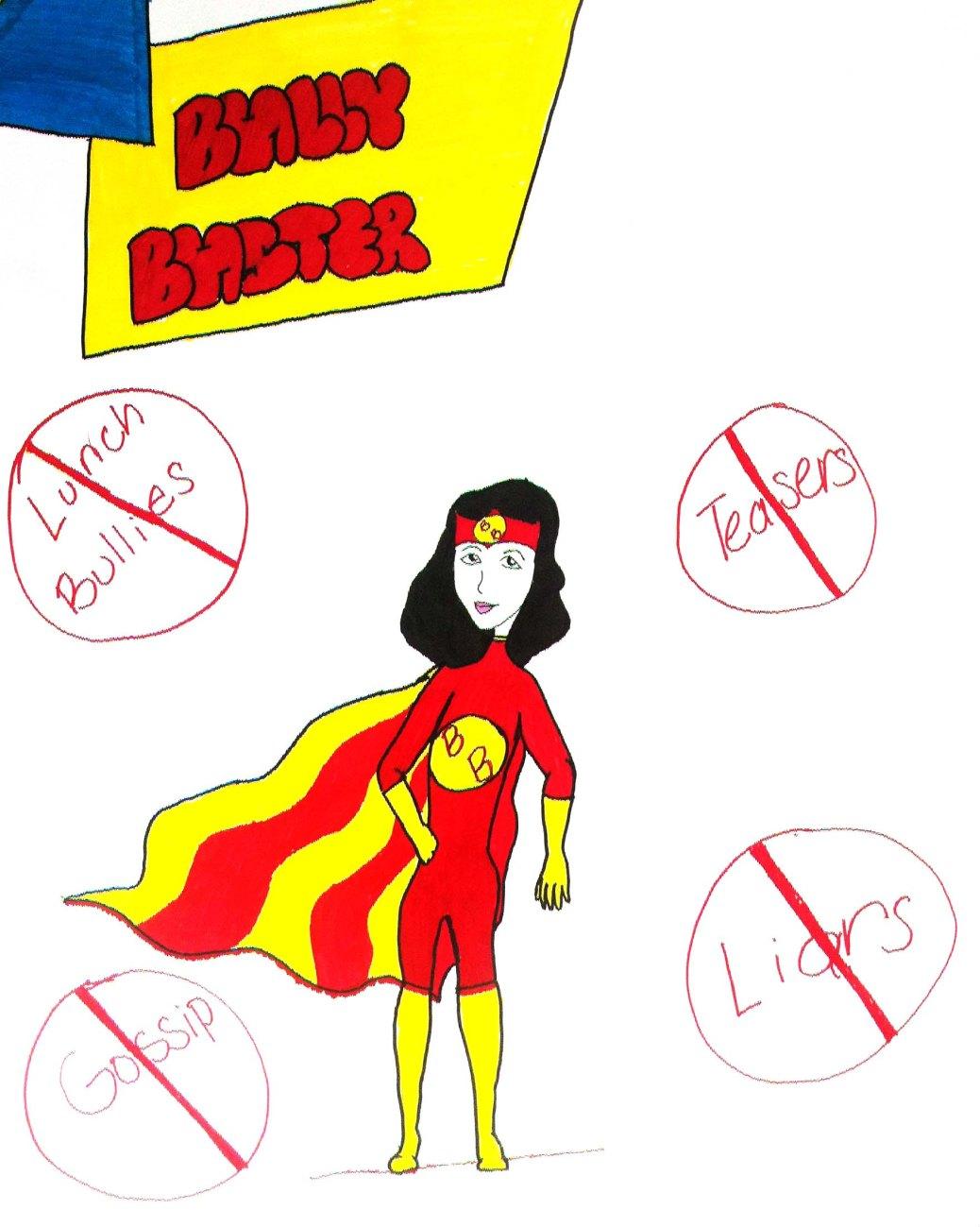 Bully Buster Superhero Artwork by Daisy Maldonado