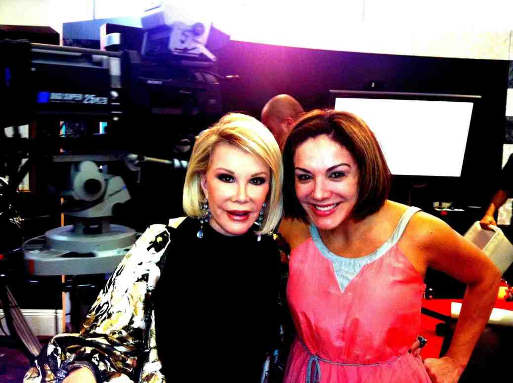 Jill with Joan on set of Fashion Police.